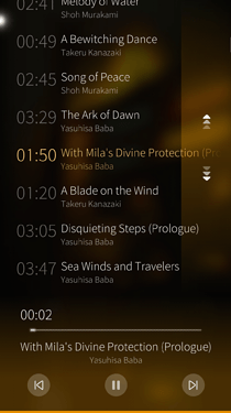Screenshot of the music player album overview, displaying a very large album, spread out over multiple discs