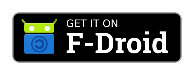 Get it on F-Droid badge